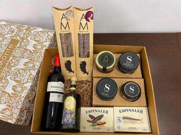Cestas De Navidad Lote 4 Surtido Gourmet Con Vino 1.jpg