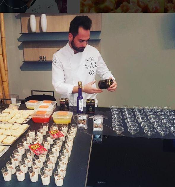 Chef Alex Milla con productos Artemonte