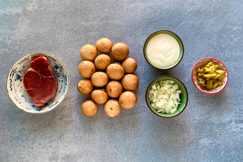 Ingredientes Salsa Strogonoff