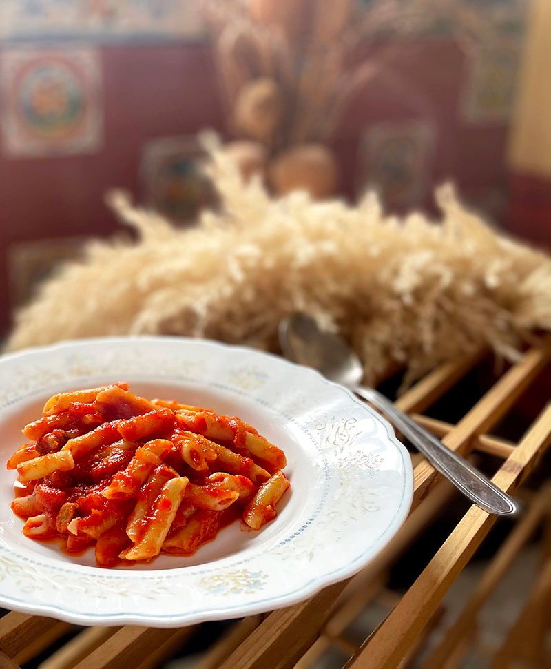 Macarrones Con Carne De Jabali