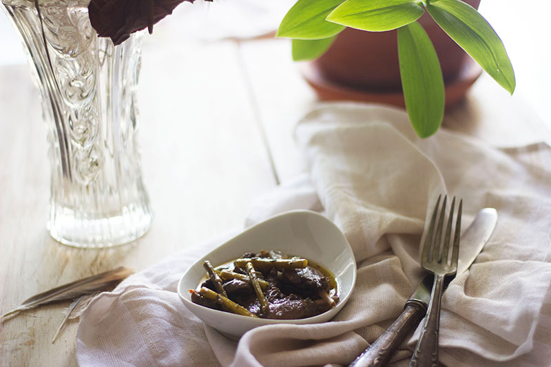 Receta De Muslos De Pato Azulón Con Champiñones Y Espárragos
