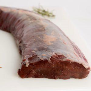 Cinta de lomo carne de caza de ciervo
